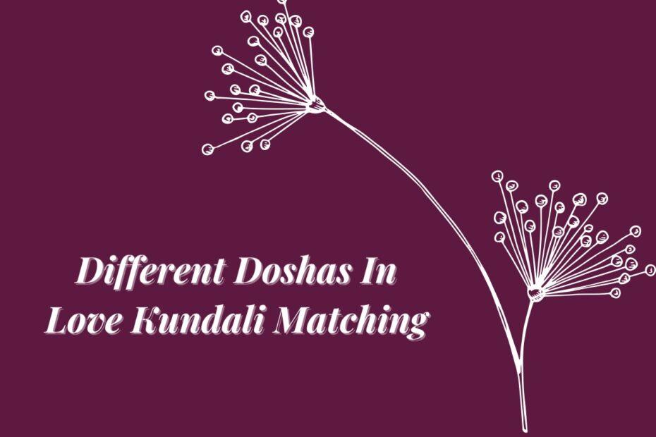Different Doshas In Love Kundali Matching